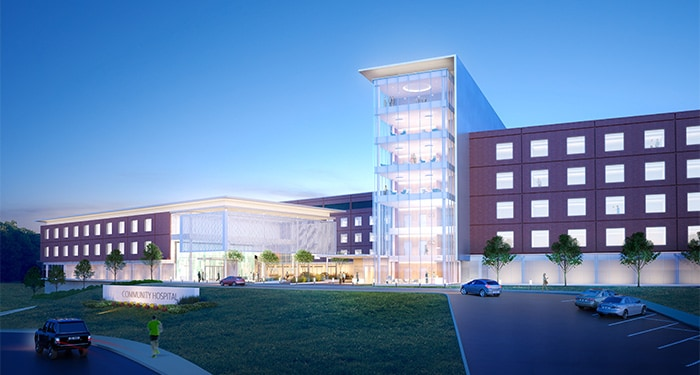 Consolidating two community hospitals into one healthcare campus