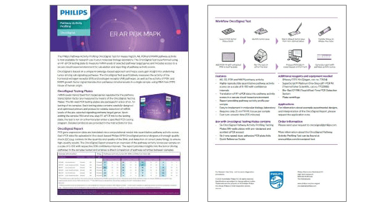 OS product flyer