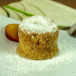 Steamed nut cake