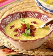 Sweet Corn Soup With Bacon